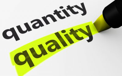 Kwantiteit vs kwaliteit